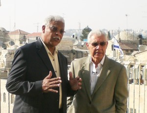 Earl Cox (right) and Ben Kinchlow (left) - co-hosts of Front Page Jerusalem