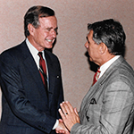 Earl-Cox-with-U.S.-President-George-Bush,-Sr.