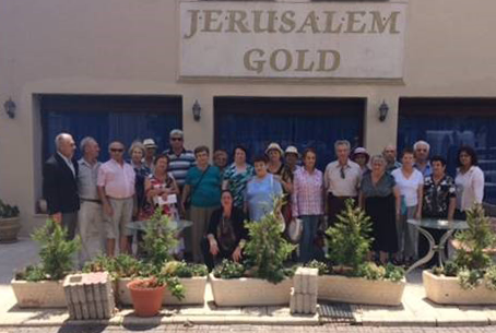 Holocaust-Survivors from Sderot taken to Jerusalem for a respite during the 2014 Gaza war